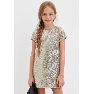 Forever 21 girls golden sequined dress